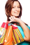 Shopping woman smiling. Stock Photos