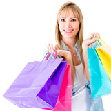Shopping woman smiling Royalty Free Stock Images