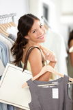 Shopping woman smiling happy Stock Images
