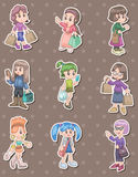 Shopping woman stickers Royalty Free Stock Photo