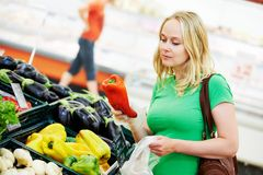 Shopping woman at store Royalty Free Stock Image