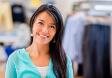 Shopping woman at a store Royalty Free Stock Photos