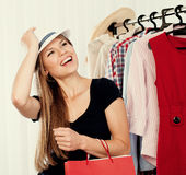 Shopping woman in store Stock Photo