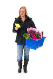 Shopping woman in the supermarket Royalty Free Stock Photo