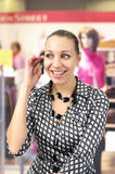Shopping woman talking on Stock Photo