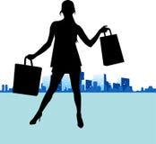 Shopping woman vector Stock Image