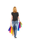 Shopping woman view from behind Royalty Free Stock Photo