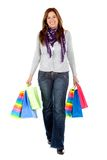 Shopping woman walking Stock Photo