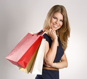 Shopping woman Royalty Free Stock Photos