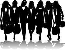 Shopping women vector illustration