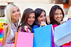 Shopping women Stock Photography