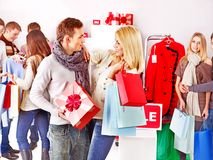 Shopping women at Christmas sales. Stock Photography