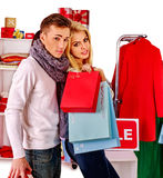 Shopping women at Christmas sales Royalty Free Stock Photography