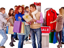 Shopping women at Christmas sales Royalty Free Stock Photo