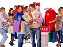 Shopping women at Christmas sales Royalty Free Stock Photo