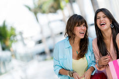 Shopping women having fun Stock Photo