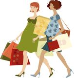 Shopping women illustration Royalty Free Stock Image