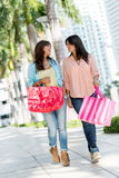 Shopping women in Miami Royalty Free Stock Photo