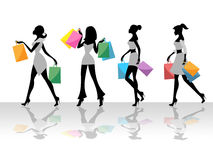 Shopping Women Shows Retail Sales And Adult Royalty Free Stock Images