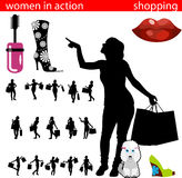 Shopping women silhouette Royalty Free Stock Photo