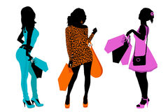Shopping women Royalty Free Stock Image