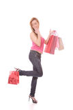 Shopping woman smiling Stock Photography
