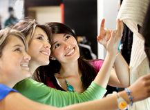 Shopping women at a store Stock Photo