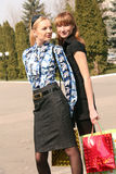 Shopping women on the street Stock Photo