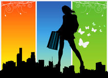 shopping women vector 1 Stock Photo