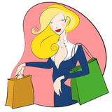 Shopping women vector Royalty Free Stock Photo