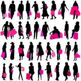 Shopping women vector Stock Photos