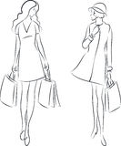 Shopping women Stock Images