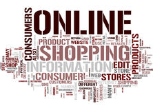 Shopping word cloud Stock Photography