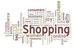 Shopping Word Cloud Stock Photo