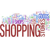 Shopping word collage Royalty Free Stock Photography