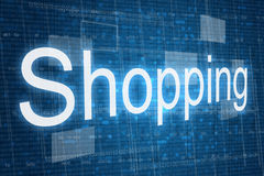 Shopping word on digital background Royalty Free Stock Image