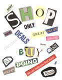 Shopping Words Royalty Free Stock Photos