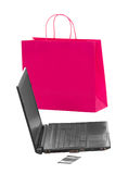 Shopping and working over internet Stock Images