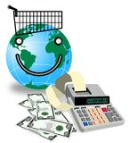 Shopping worldwide Royalty Free Stock Photography