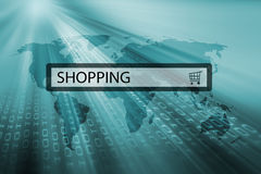 Shopping written in search bar Stock Image