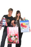 Shopping young couple Stock Photography