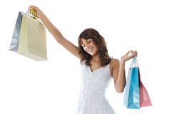 Shopping young girl Royalty Free Stock Images