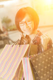 Shopping young girl Royalty Free Stock Photography