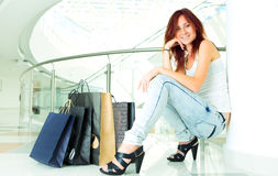 Shopping young woman Stock Image