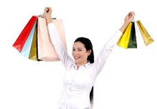 Shopping young woman Stock Photography