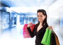 Shopping young woman Royalty Free Stock Images