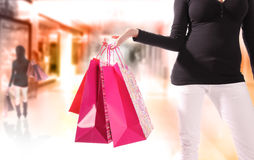 Shopping young woman Royalty Free Stock Photo
