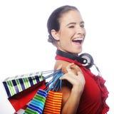 Shopping Young Woman Stock Photo