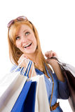 Shopping young woman with bag Royalty Free Stock Photo