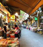Shopping at the Zhongjie Dry Goods Market Royalty Free Stock Photography